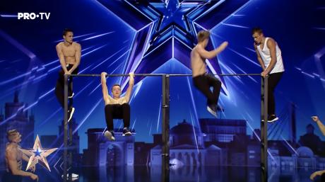 Участие комманды сборной Молдовы «Street Workout» в конкурсе  Românii au Talent