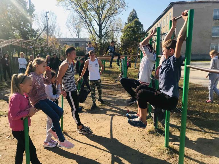 Выездные мастер-классы по Workout для детей из школы интерната с. Бульбока, р-он Новые Анены