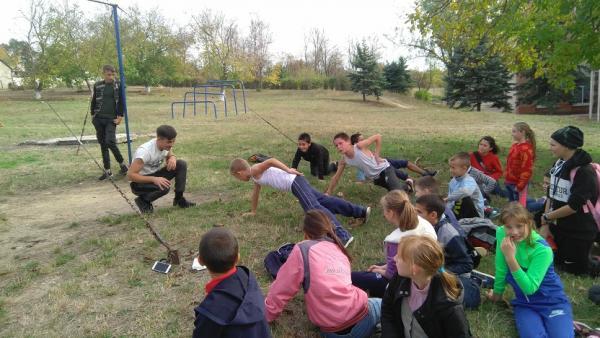 Выездные мастер-классы по Workout для детей из школы интерната с. Попенки, Рыбницкого района
