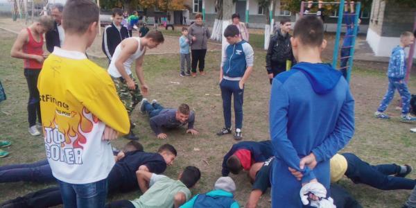 Выездные мастер-классы по Workout для детей из школы интерната с. Глиное, Слободзейский район
