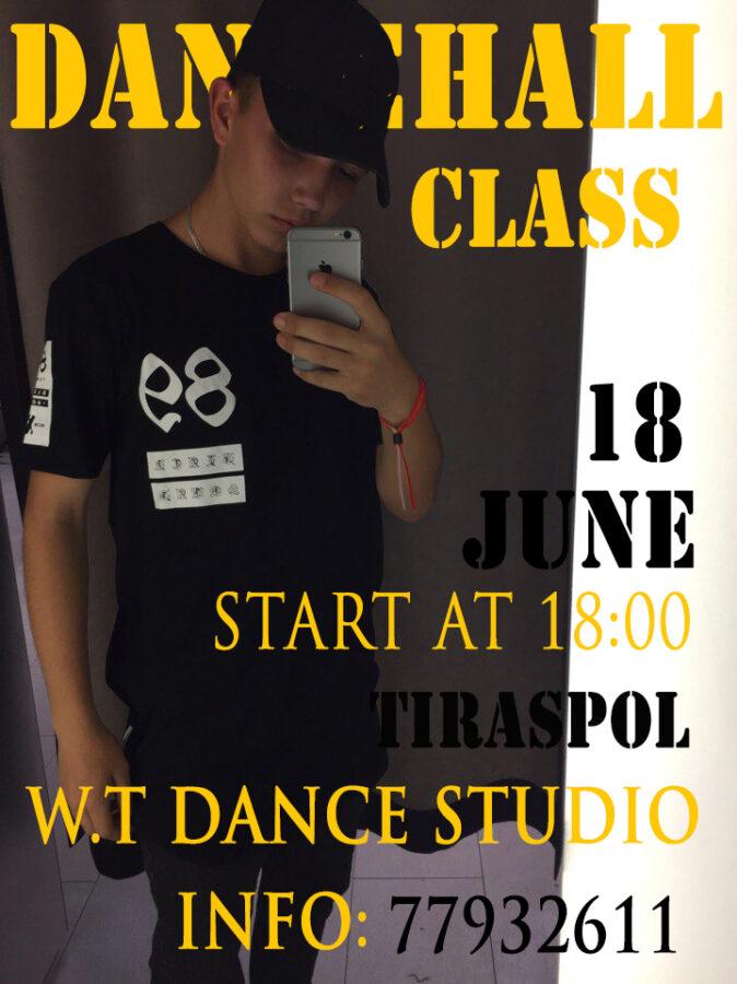 Мастер-класс по DANCEHALL 19 июня